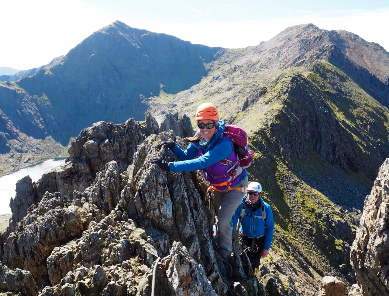 Scrambling On The Crib Goch Pinnacles On The Snowdon Horseshoe