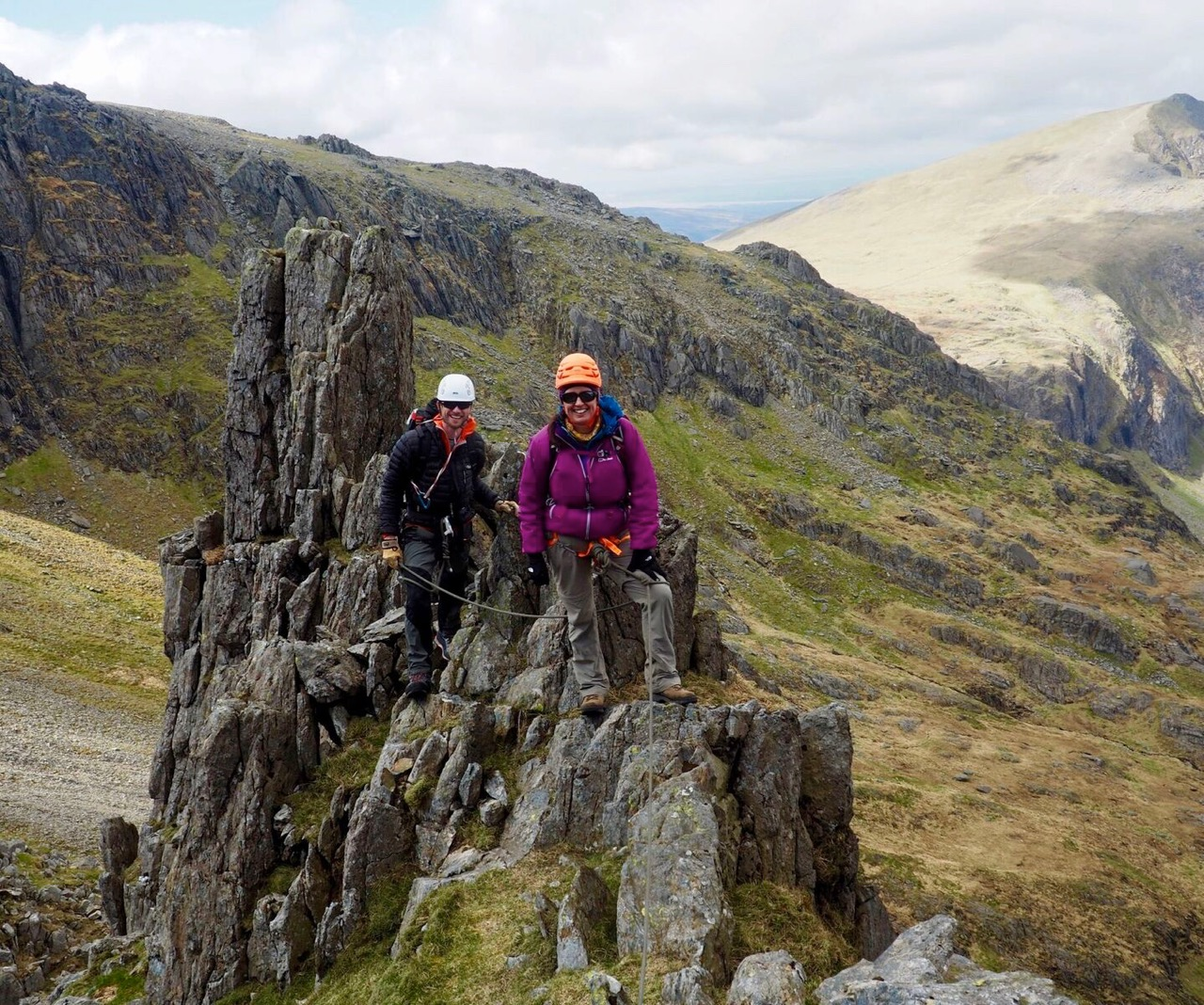 Scrambling On Tower Rib, Snowdonia