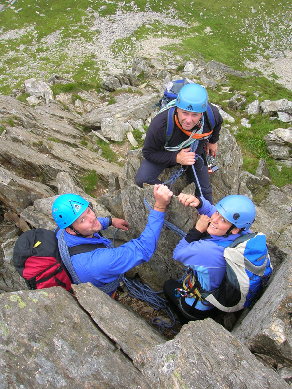 Alpine Moving Together Training on the Cneifion Arete, Ogwen, Snowdonia
