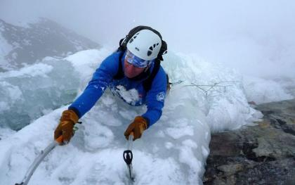 Steep Ice Climbing on Ben Nevis