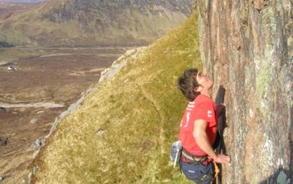 Sport Climbing on Tunnel Wall, Glencoe