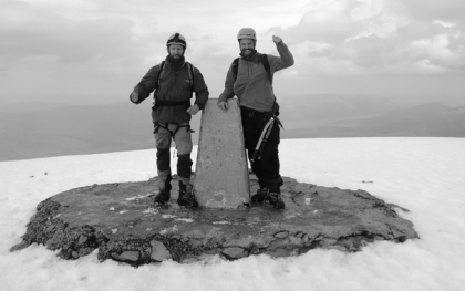 Ben Nevis Summit After An Ascent Of Ledge Route On The North Face