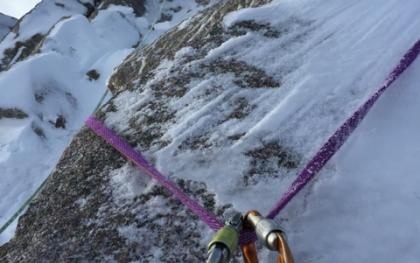 Mixed Terrain On The Twin Ribs - Ideal Matterhorn Training For the Mixed Summit Tower, Climbed In Crampons