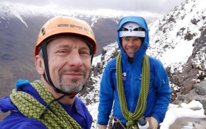 Andy & Michael Enjoying Wintery Spring Conditions In The Highlands