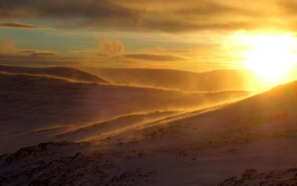 Winter Scene High On the Cairngorm Plateau