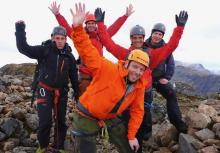 Euro Matterhorn Training Group - Curved & Castle Ridge, Lochaber, April 2017