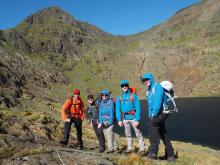 April 2017 Snowdonia Mont Blanc Training Team - At Llyn Glaslyn, Snowdon
