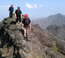 Scrambling on the famous Black Cuilin Ridge, Skye